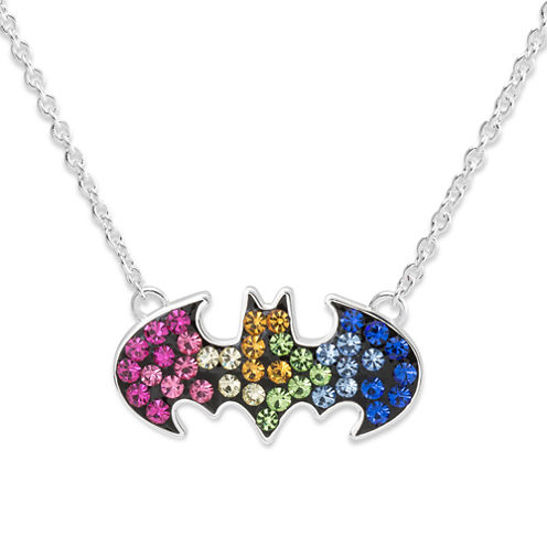 Girls Multi Color Crystal Pendant Necklace
