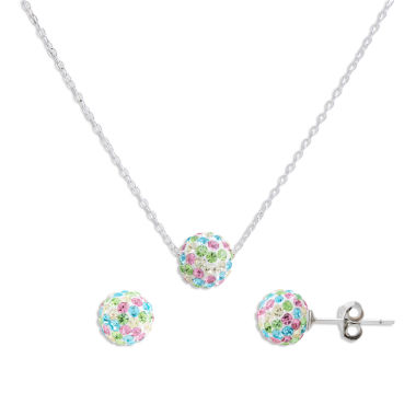 jcpenney.com | Children's Sterling Silver 2-pc Multi-color Crystal Ball Earring And Pendant Set