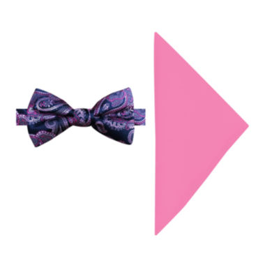 jcpenney.com | Susan G. Komen® Woven Paisley Pre-Tied Bow Tie and Pocket Square Set