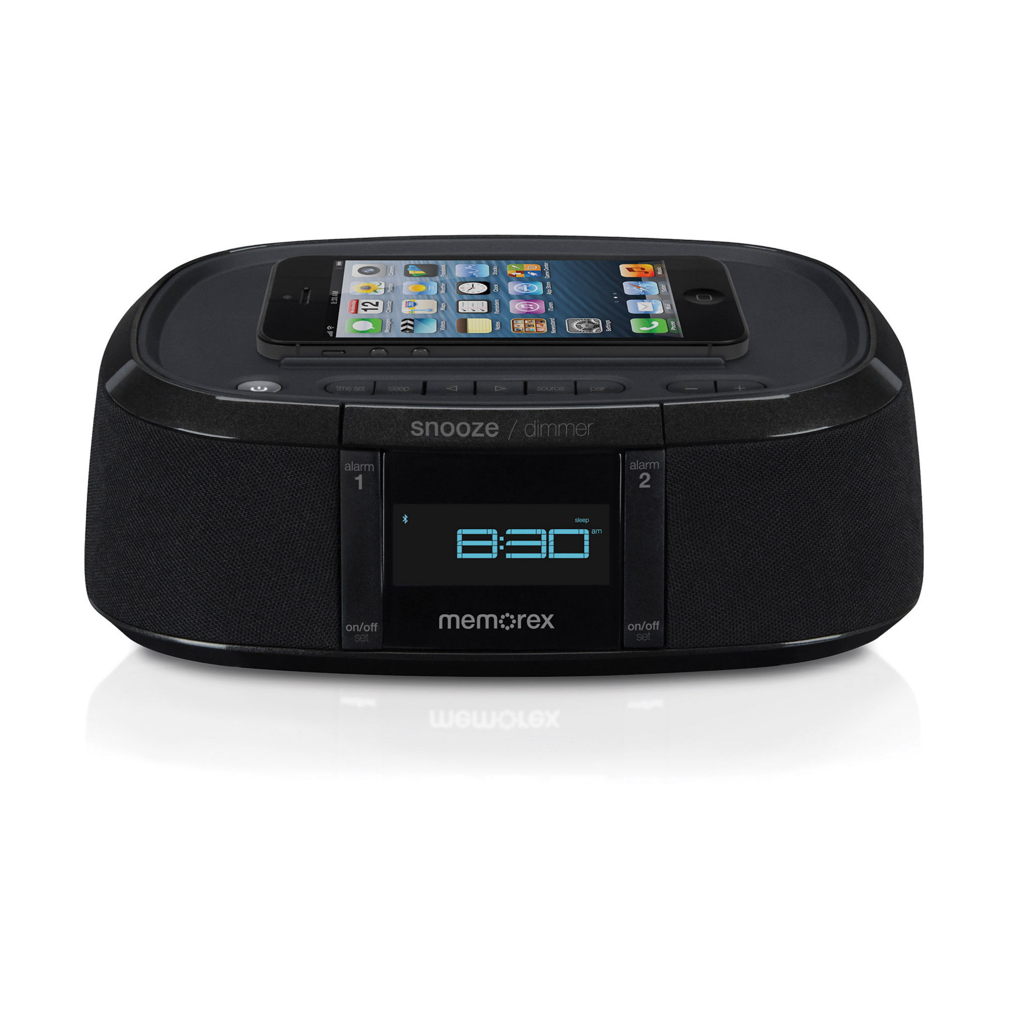 Memorex MW453 Bluetooth Alarm Clock Radio