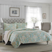 Laura Ashley 2-pc. Floral Quilt Set