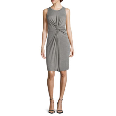 jcpenney.com | Worthington® Sleeveless Knot-Twist Waist Dress - Petites