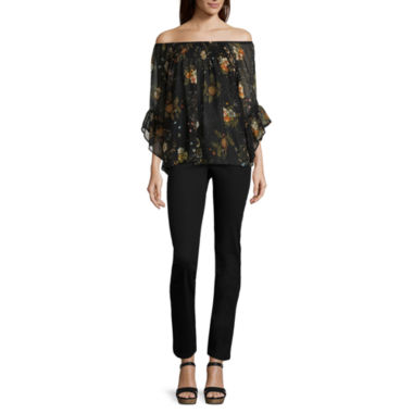 jcpenney.com | i jeans by Buffalo Off-Shoulder Blouse or Zipper Skinny Jeans