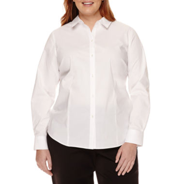 jcpenney.com | Liz Claiborne® Long-Sleeve Shirt - Plus