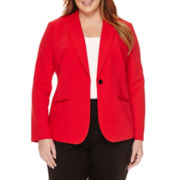 Liz Claiborne® Long-Sleeve One-Button Jacket - Plus