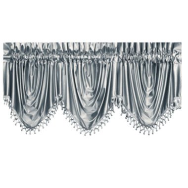 jcpenney.com | Sonata Festoon Rod-Pocket Ball Fringe-Trim Lined Valance