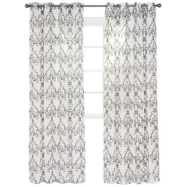 jcpenney.com | Cambridge Home Valencia Embroidered Grommet-Top Curtain Panel