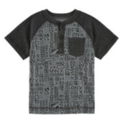 Arizona Short-Sleeve Henley Tee - Toddler Boys 2t-5t