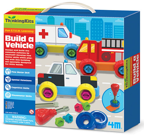 4m Build A Vehicle Interactive Toy - Unisex