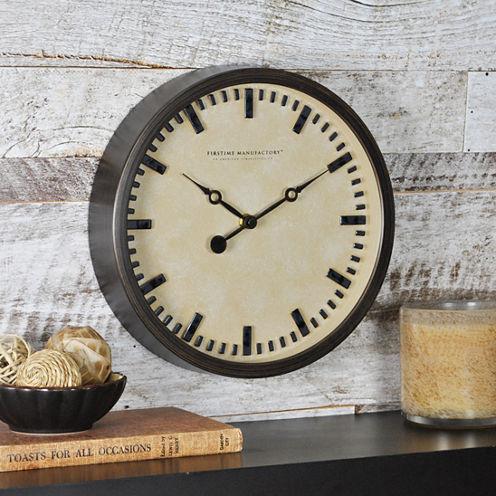 FirsTime® Raised Bronze Wall Clock