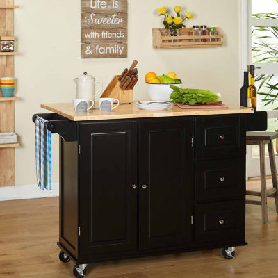 Kitchen Island Jcpenney sundance wood-top kitchen cart - jcpenney