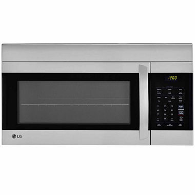Lg 1 7 cu ft easyclean over the range microwave oven lmv1762sw jcpenney - Red over the range microwave ...