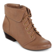Yuu™ Tang Cuffed Lace-Up Boots