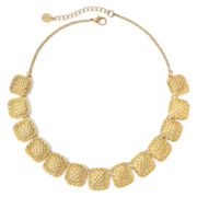Monet® Gold-Tone Woven Frontal Collar Necklace