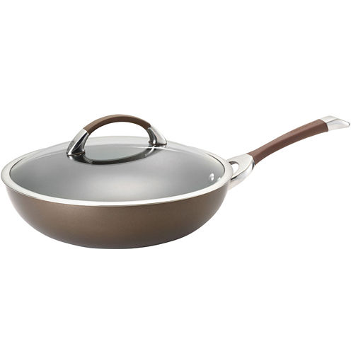 """Circulon® Symmetry 12"""" Hard-Anodized Covered Essential Pan"""