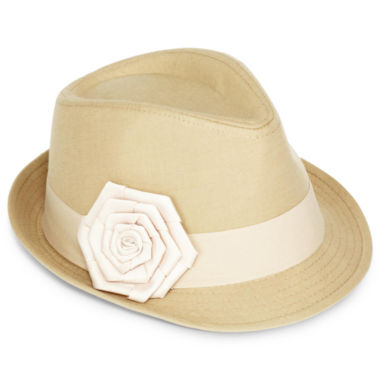 jcpenney.com | Poplin Fedora with Grosgrain Ribbon