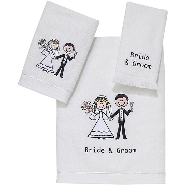 Jcpenney Gift Registry Wedding: Avanti Bride And Groom Bath Towels