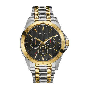 jcpenney.com | Bulova® Mens Two-Tone Stainless Steel Watch 98C120