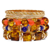 Mixit™ Gold-Tone Multicolor 6-pc. Bangle Set