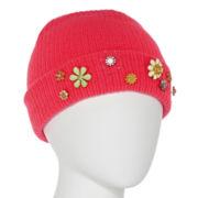 Mixit™ Flower-Embellished Beanie