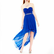 City Triangles® Strapless Twist-Top High-Low Dress