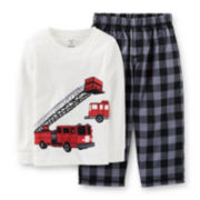 Carter's® 2-pc. Long-Sleeve Fire Truck Pajama Set – Boys 12m-24m