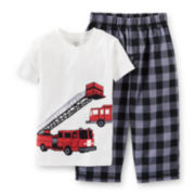 Carter's® 2-pc. Short-Sleeve Fire Truck Pajama Set – Boys 12m-24m