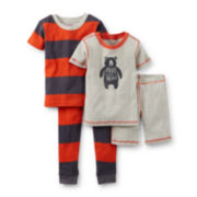 Carter's® 4-pc. Short-Sleeve Bear Pajama Set – Boys 6m-24m