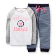 Carter's® 2-pc. Totally Adorable Long-Sleeve Pajama Set – Girls 12m-24m