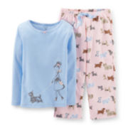 Carter's® 2-pc. Long-Sleeve Dog Pajama Set - Girls 12m-24m