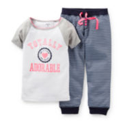 Carter's® 2-pc. Totally Adorable Short-Sleeve Pajama Set – Girls 12m-24m