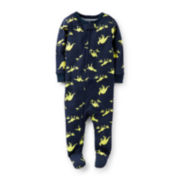 Carter's® Footed Long-Sleeve Dino-Print Pajamas – Boys 12m-24m
