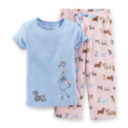 Carter's® 2-pc. Short-Sleeve Dog Pajama Set – Girls 2t-4t