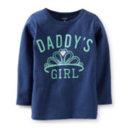 Carter's® Long-Sleeve Daddy's Girl Tee – Girls 6m-24m