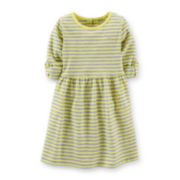 Carter's® 3/4-Sleeve Striped Knit Dress – Girls 2t-4t
