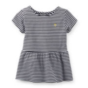 Carter's® Striped Peplum Knit Top – Girls 2t-4t