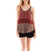 by&by Lattice-Back Print Tank Top or Belted Shorts