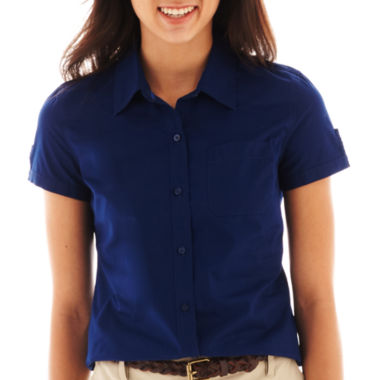 jcpenney.com | Arizona Short-Sleeve Button-Front Uniform Shirt