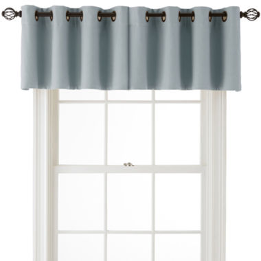 jcpenney.com | MarthaWindow™ Fairmount Basketweave Grommet-Top Insert Valance