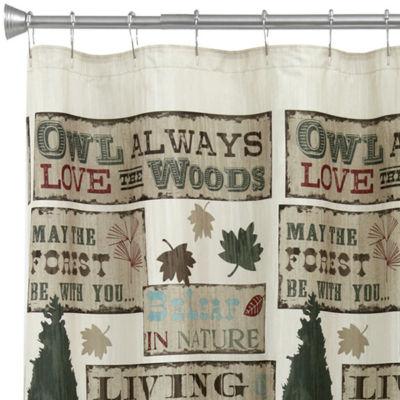 Bacova Live Love Lodge Shower Curtain