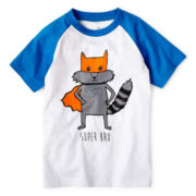 Okie Dokie® Graphic Raglan Short-Sleeve Tee - Boys 12m-6y