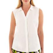 Worthington® Sleeveless Shirt - Plus