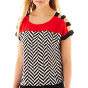 Heart & Soul® Cut-Out Shoulder Top
