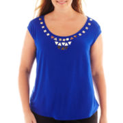 Worthington® Sleeveless Embellished Top - Plus