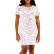Liz Claiborne Short-Sleeve Night Shirt - Plus
