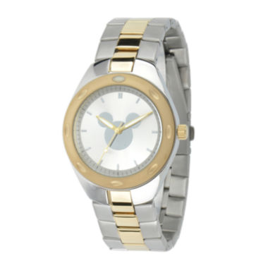 jcpenney.com | Disney Mickey Mouse Mens Two-Tone Stainless Steel Watch