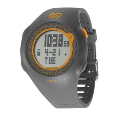 jcpenney.com | Soleus GPS Turbo Gray Silicone Strap Running Digital Sport Watch