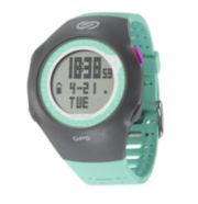 Soleus GPS Turbo Teal Silicone Strap Running Digital Sport Watch