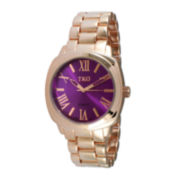 TKO ORLOGI Womens Purple Dial Boyfriend Bracelet Watch