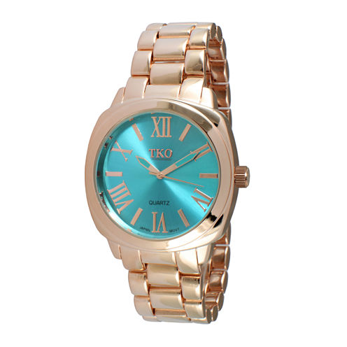 TKO ORLOGI Womens Light Blue Dial Boyfriend Bracelet Watch